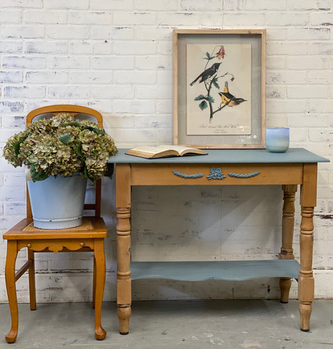 Milk Painted Pine Side Table