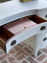 Load image into Gallery viewer, Vintage Bow Front Vanity/Desk