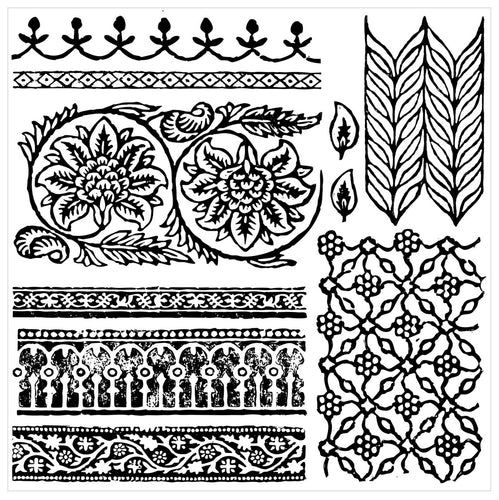 Bohemia 12 x 12 IOD Decor Stamp