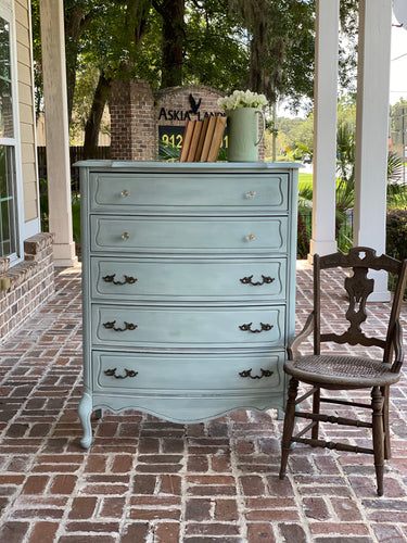 Duck Egg Blue French Provincial Chest