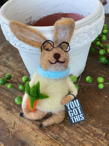 Felted Bunny You Got This