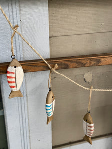 Wooden Fish Garland