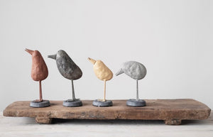 Set of 4 Metal Birds