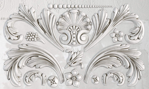 Acanthus Scroll 6 x 10 IOD Decor Mould