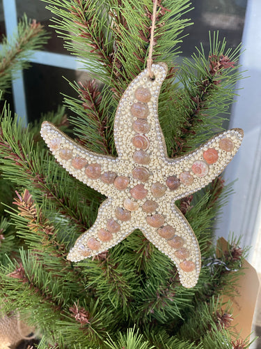 Glass Bead and Shell Starfish Ornament
