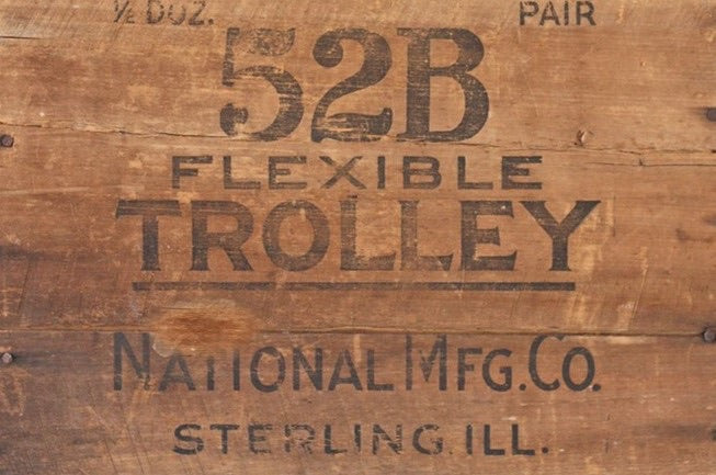 "Roycycled Wood Crate ""Trolley"""