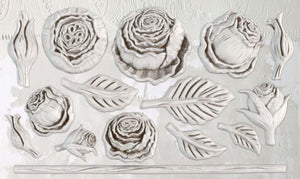 Heirloom Roses 6 x 10 IOD Decor Moulds