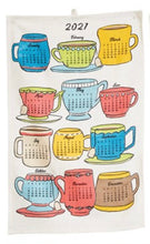 Load image into Gallery viewer, Tea Cup 2021 Calendar Tea Towel
