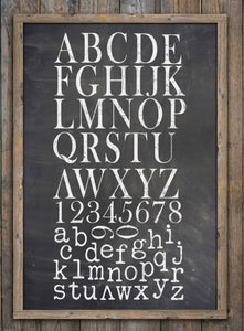 Typesetting 12 x 12 IOD Decor Stamps