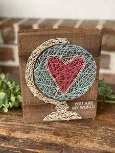 You are my world string art