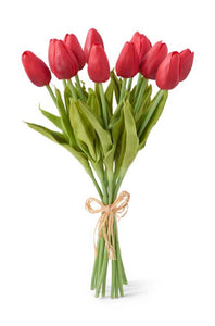 Red Real Touch Tulips