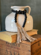 Load image into Gallery viewer, Small Black Wood Bead Garland - 30""