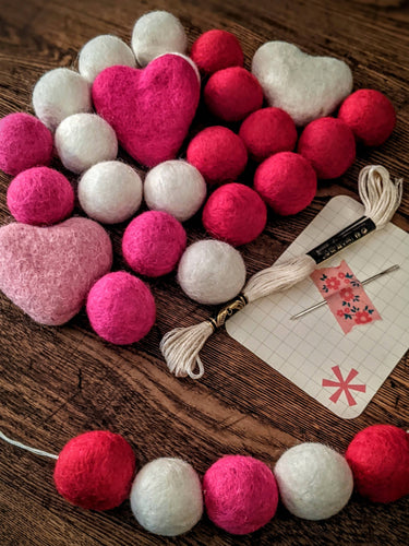Hot Pink Valentine DIY Garland Kit