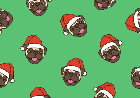 Festive pugs boardies -  Kids (Limited Addition)