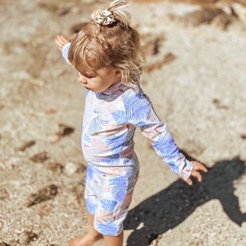 Kids long sleeve swimsuit (Tropical)