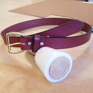 Chestnut Infinity Belt | Bad Mother Leather, San Diego, California