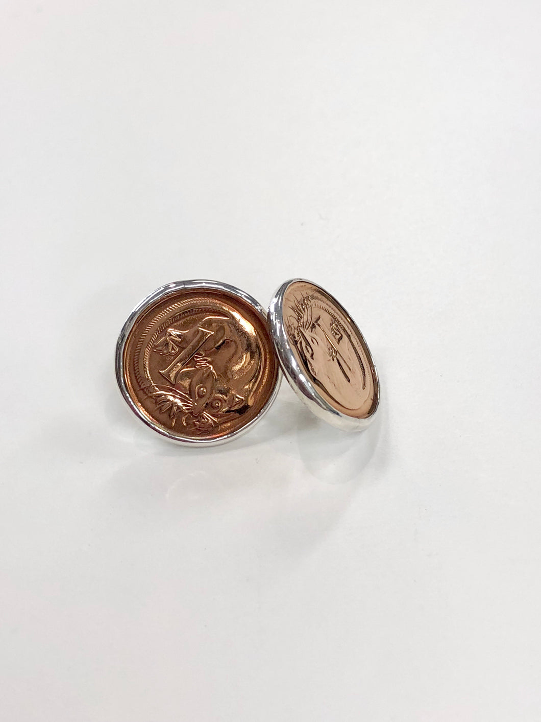 Sterling Silver 1 Cent Coin Studs