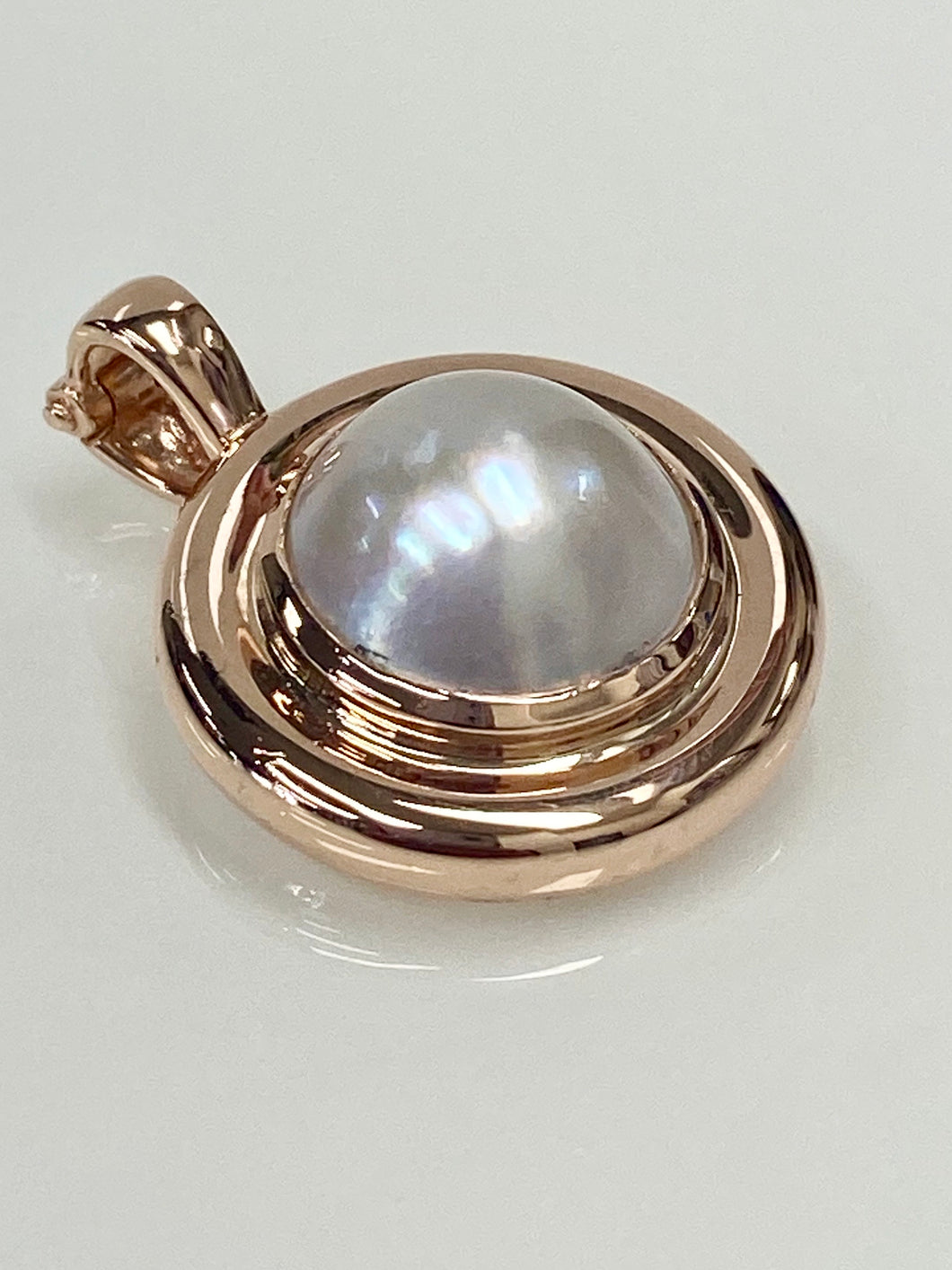 9ct Rose Gold Mabe Pearl Enhancer
