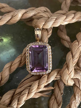 Load image into Gallery viewer, 9ct Gold Amethyst & Diamond Enhancer