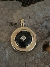Load image into Gallery viewer, 9ct Gold Onyx & Diamond Enhancer Pendant
