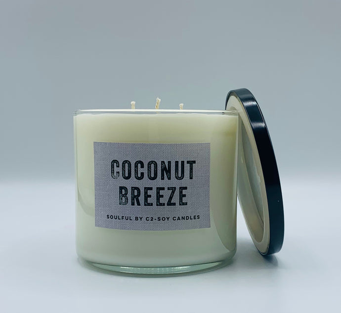 Coconut Breeze 17oz Soy Candles