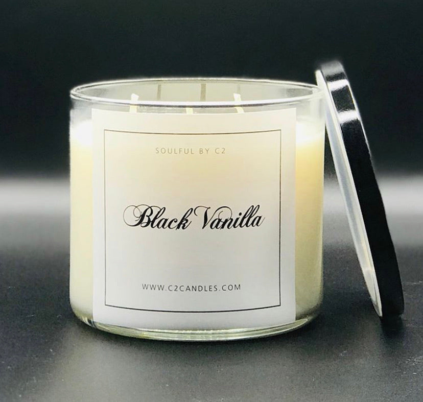 Black Vanilla 17oz Soy Candles
