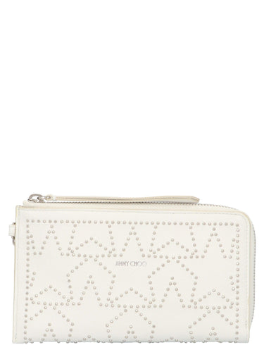 JIMMY CHOO Perseus smartphone case clutch bag