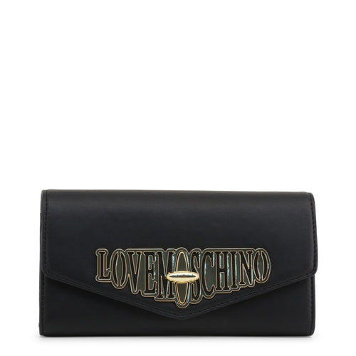 Love Moschino logo plaque envelope clutch bag