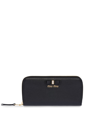 MIU MIU Bow embellished continental wallet