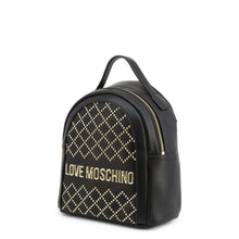 Load image into Gallery viewer, Love Moschino studded logo plaque backpack