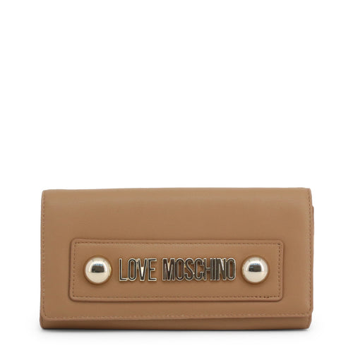 Love Moschino logo plaque clutch bag