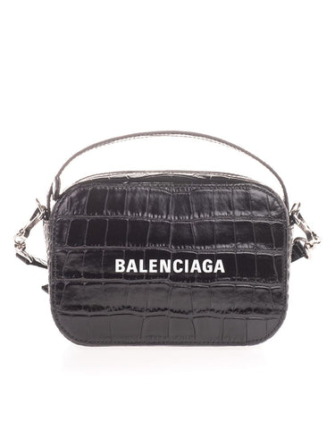 BALENCIAGA camera croc-effect crossbody bag
