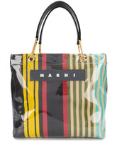 Load image into Gallery viewer, MARNI logo striped tote bag