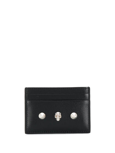 ALEXANDER MCQUEEN stud and skull card holder