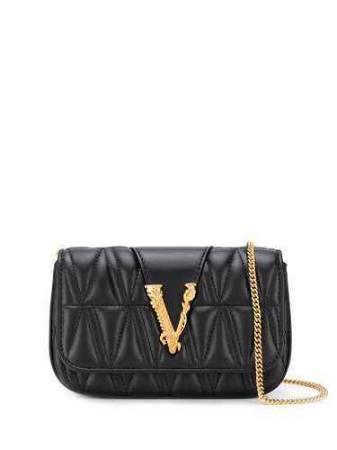 VERSACE quilted mini crossbody bag