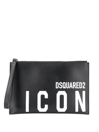 DSQUARED2 Logo print clutch
