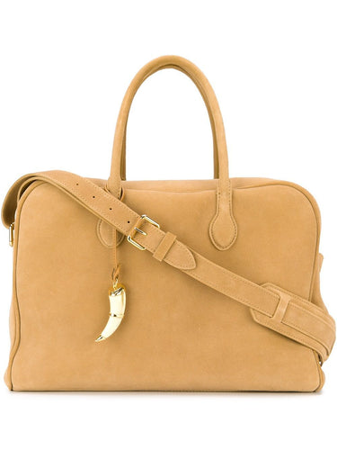 BALMAIN large suede natural handbag