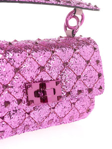 VALENTINO GARAVANI mini Spike glitter effect bag