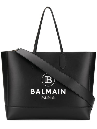 BALMAIN open-top logo tote bag