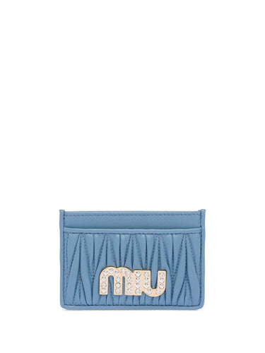 MIU MIU embellished logo card holder