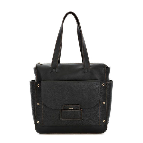 Furla - front pocket leather handbag