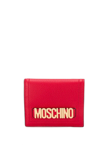 MOSCHINO small logo plaque bifold wallet