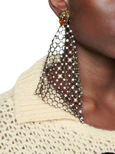 Load image into Gallery viewer, GUCCI embellished drop down lion earrings
