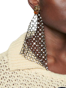GUCCI embellished drop down lion earrings