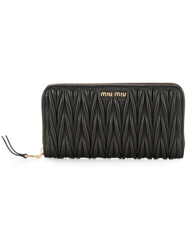 MIU MIU Matelasse zip around wallet