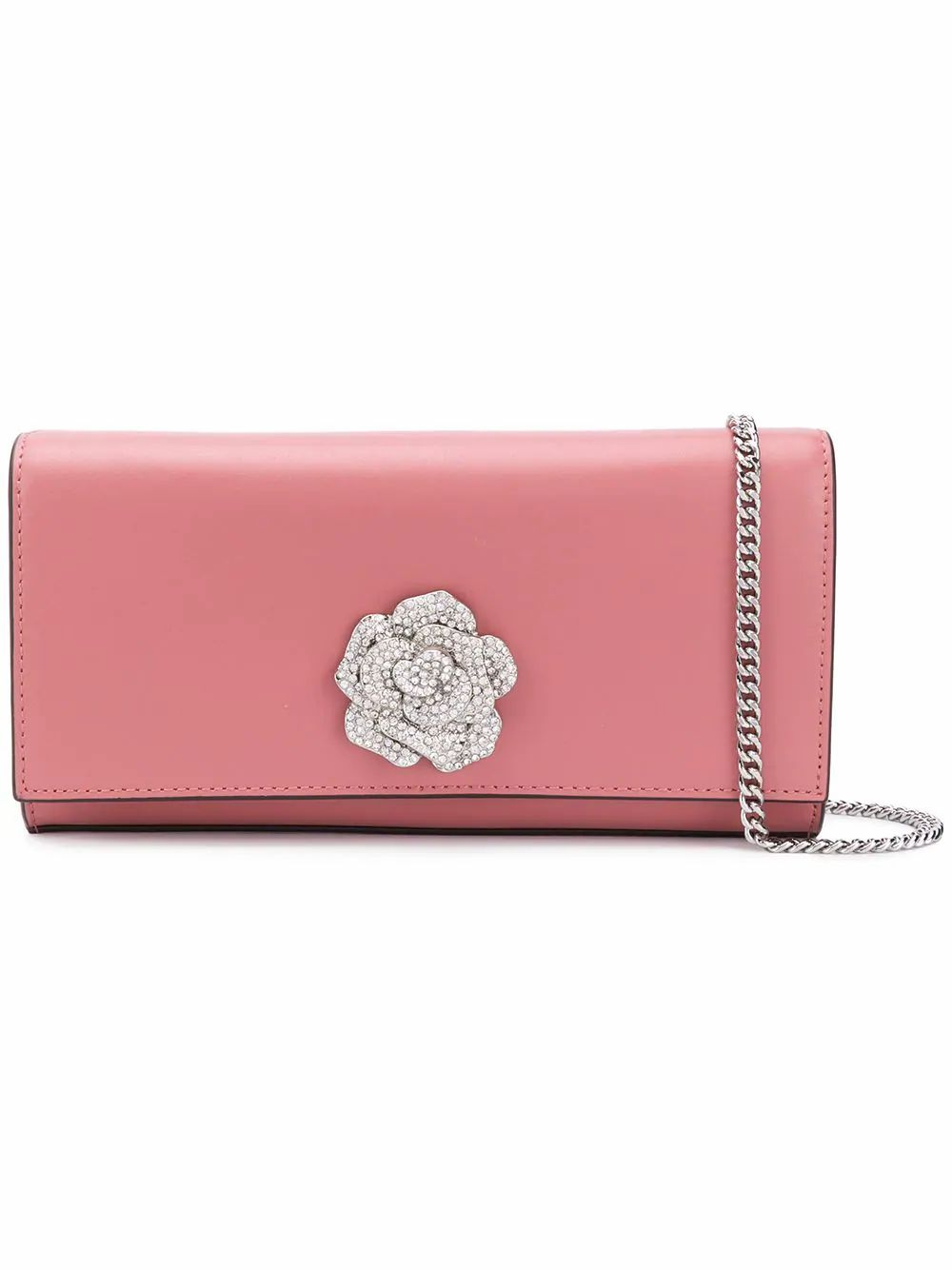 MICHAEL KORS flower pochette clutch