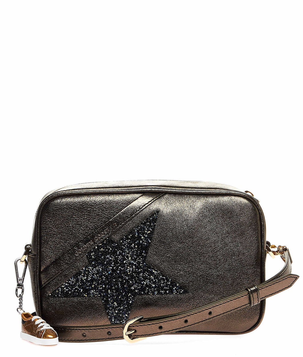 GOLDEN GOOSE Glitter star shoe detail crossbody bag