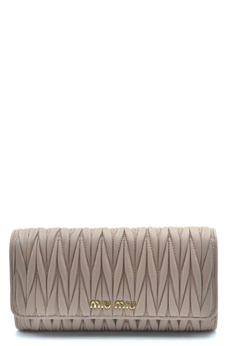 MIU MIU metallic quilted wallet