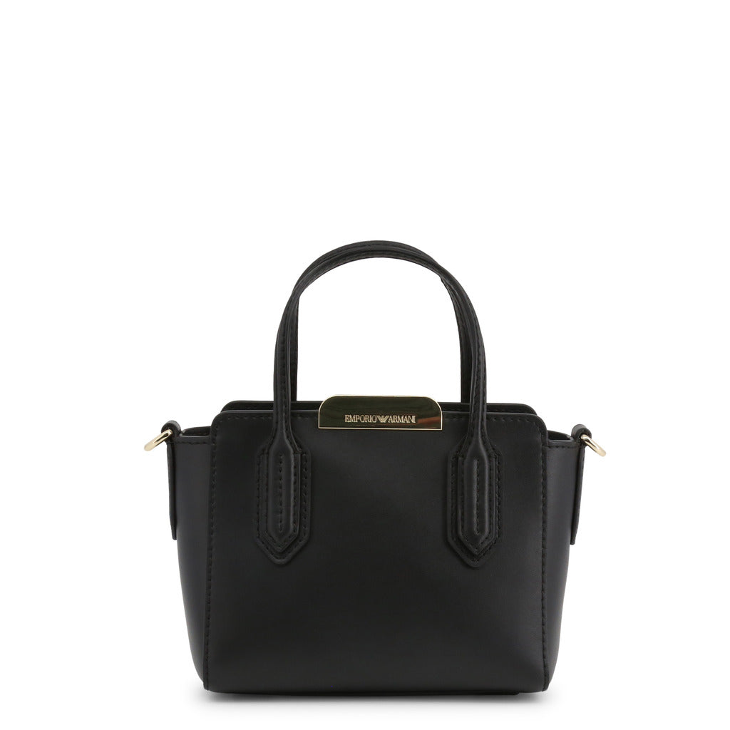 Emporio Armani leather handbag with metal clasp