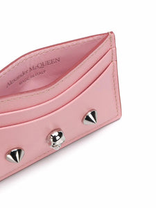 ALEXANDER MCQUEEN skull and stud card holder